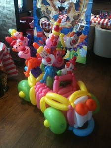 balloon clown car