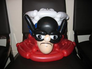balloon batman hat