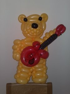 balloon bear guitar