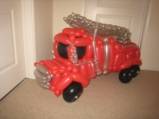 balloon fire truck