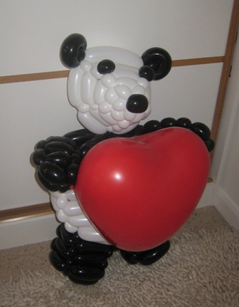 balloon panda heart