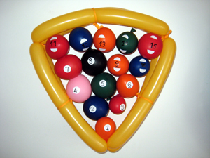 balloon snooker balls