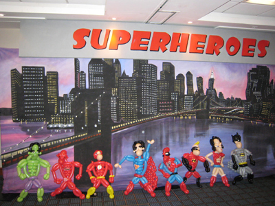 balloon superheroes